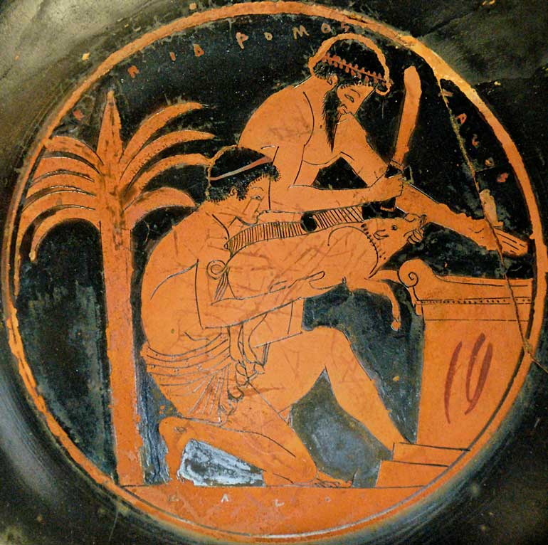 ritualistic sacrifice in ancient greek mythology